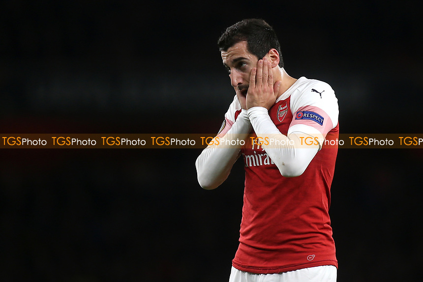 Henrikh Mkhitaryan of Arsenal  during Arsenal vs Sporting Lisbon, UEFA Europa League Football at the Emirates Stadium on 8th November 2018