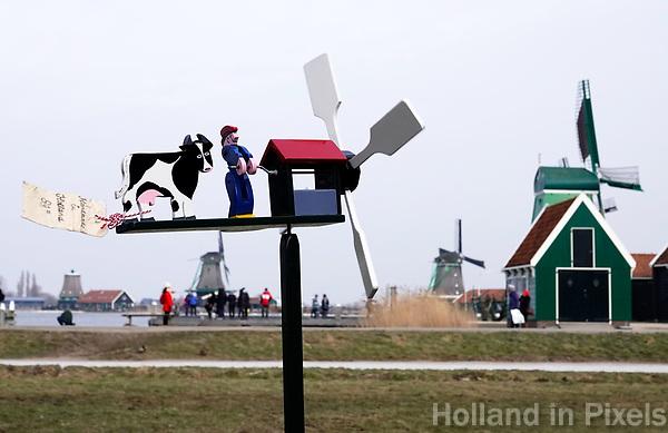 Nederland Zaanstad 2018 . Windmolentje in Zaanse Schans. Foto Berlinda van Dam / Hollandse Hoogte