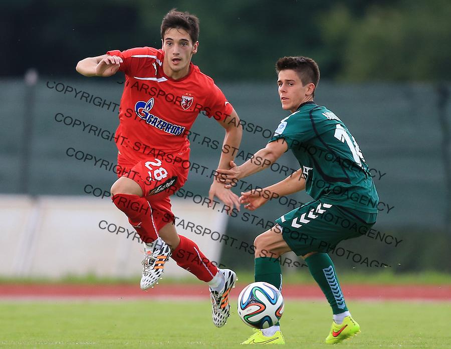 Fudbal season 2013-2014<br /> FK Crvena Zvezda pripreme<br /> Crvena Zvezda v Krka<br /> Vukan Savicevic (L)<br /> Novo Mesto, 07.12.2014.<br /> foto: Srdjan Stevanovic/Starsportphoto &copy;