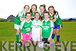 Scoil Bhride Loreto Team front l-r Treasa O'Sullivan, Niamh Stack, Eimear Beasley, back l-r  Zena Shine, Aine O'Connor, Ciara Randles and Ruth Courtney Kerry F.A.I Primary School Girls 5-A-Side Blitz at Christy Leahy Park on Tuesday