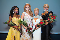 Winners of the Miss MSU 2017 competition include (l-r) Alivia P. Roberts, a junior communication/public relations and broadcasting major from Shannon named first runner-up; Miss MSU 2017 Molly May, a senior communication/public relations major from Houston, who also was named the overall winner of the talent and interview competitions; Callie Brown, a junior biological sciences major from Lucedale named second runner-up; and Anne Elizabeth Buys, a junior communication major from Vicksburg named third runner-up, as well as the overall winner of the lifestyle and fitness in swimwear competition. Not pictured, Hannah Lynn Daugherty, a junior communication major from Leroy, Alabama, also was named fan favorite. Participants were awarded approximately $13,000 in scholarships, including a full tuition scholarship for Miss MSU. (photo by Russ Houston / © Mississippi State University)