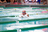 Fairfax, VA - July 2, 2015: John Stoffer competes in the breaststroke during the swim meet at the World Police and Fire Games at George Mason University in Fairfax, VA. (Photo by Elliott Brown/Media Images International)