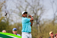 Harold Varner III (USA) on the 9th tee during the 3rd round of the Waste Management Phoenix Open, TPC Scottsdale, Scottsdale, Arisona, USA. 02/02/2019.<br /> Picture Fran Caffrey / Golffile.ie<br /> <br /> All photo usage must carry mandatory copyright credit (© Golffile | Fran Caffrey)