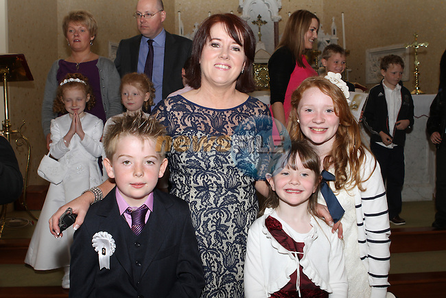Emmet Higgins and family at the Mount Hanover Communion in Duleek Church...(Photo Jenny Matthews/www.newsfile.ie)