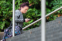 Pictured: Sophie Skinner arrives at Newport Crown Court. Friday 12 October 2018 <br /> Re: Sophie Skinner was found guilty of perverting the course of justice – after making  a false allegation of rape and was sentenced to 18 months in prison by Newport Crown Court.