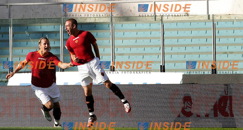 Daniele De Rossi celebrates after scoring with Pihilippe Mexes (Roma)<br /> Esultanza di Daniele De Rossi dopo il gol con Philippe Mexes<br /> Italy &quot;Tim Cup&quot; 2006-07 - Coppa Italia<br /> 09 May 2007 (Final 1st Leg)<br /> Roma-Inter (6-2)<br /> &quot;Olimpico&quot; Stadium-Rome-Italy<br /> Photographer Andrea Staccioli INSIDE