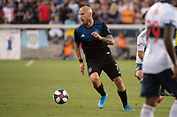 SAN JOSE, CA - AUGUST 24: Magnus Eriksson #7 of the San Jose Earthquakes during a game between Vancouver Whitecaps FC and San Jose Earthquakes at Avaya Stadium on August 24, 2019 in San Jose, California.