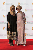 London, UK. 8 May 2016. Nadiya Hussain and Mary Berry of the Great British Bake Off. Red carpet  celebrity arrivals for the House Of Fraser British Academy Television Awards at the Royal Festival Hall.