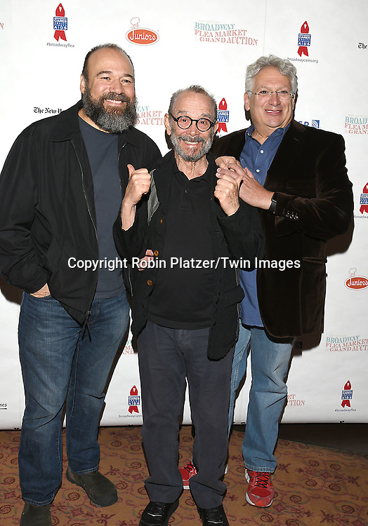 Danny Burstein, Joel Grey and Harvey Fierstein attends the Broadway Cares/Equity Fights Aids Flea Market and Grand Auction on September 25, 2016 at the Music Box Theatre and in Shubert Ally in New York, New York, USA. <br /> <br /> photo by Robin Platzer/Twin Images<br />  <br /> phone number 212-935-0770