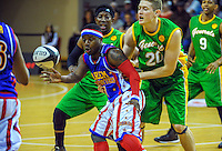 Action from the Harlem Globetrotters basketball tour show at TSB Bank Arena, Wellington, New Zealand on Sunday, 7 June 2014. Photo: Dave Lintott / lintottphoto.co.nz