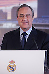 Real Madrid's President Florentino Perez during new soccer player Mateo Kovacic´s presentation at the Santiago Bernabeu stadium in Madrid, Spain. August 19, 2015. (ALTERPHOTOS/Victor Blanco)