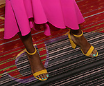 LaChanze, shoe detail, attends the 2018 Drama League Awards at the Marriot Marquis Times Square on May 18, 2018 in New York City.