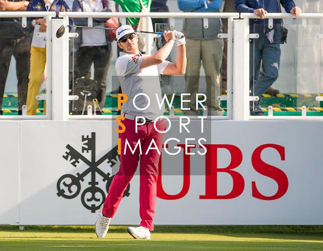 Nacho Elvira of Spain tees off the first hole during the 58th UBS Hong Kong Golf Open as part of the European Tour on 10 December 2016, at the Hong Kong Golf Club, Fanling, Hong Kong, China. Photo by Marcio Rodrigo Machado / Power Sport Images