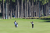 Shubhankar Sharma (IND) plays his 2nd shot on the 10th hole during Thursday's Round 1 of the 2018 Turkish Airlines Open hosted by Regnum Carya Golf &amp; Spa Resort, Antalya, Turkey. 1st November 2018.<br /> Picture: Eoin Clarke | Golffile<br /> <br /> <br /> All photos usage must carry mandatory copyright credit (&copy; Golffile | Eoin Clarke)