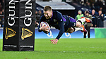 16.03.2019 Guinness Six Nations International Rugby England Vs Scotland at RFU Twickenham Stadium UK<br /> Finn Russell scores a try for Scotland The match was tied 38-38