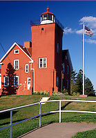 lighthouse, MN, Two Harbors, Minnesota, Lake Superior, Two Harbors Lighthouse at Lighthouse Point and Harbor Museum in Two Harbors.