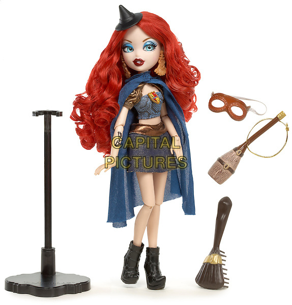 ratzillaz Doll Meygana Broomstix .Dream Toys 2012.The Witchy Wicked Glam Cousins of The Bratz.*Editorial Use Only*.full length blue cape accessories  toy doll.CAP/PLF.Supplied by Capital Pictures.