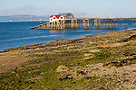 Pier and lifeboat station, Mumbles, Gower peninsula, near Swansea, South Wales, UK