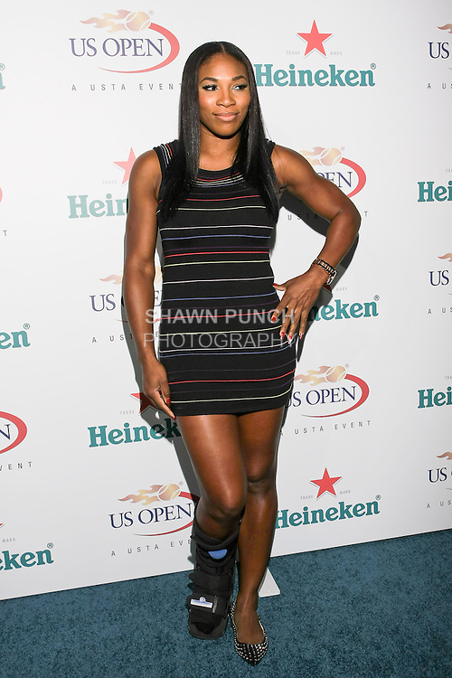 Serena Williams arrives at the US Open Player Party at The Empire Hotel, August 27, 2010.