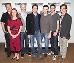 Moises Kaufman, Kristen Bush, Tim McGeever, Kieran Campion, Jacob Fishel, Josh Cooke and Lucas Near-Verbrugghe.attending the Meet & Greet for the Roundabout Theatre Company's Off-Broadway Production of 'The Common Pursuit' at their Rehearsal Studios in New York on 4/6/2012.