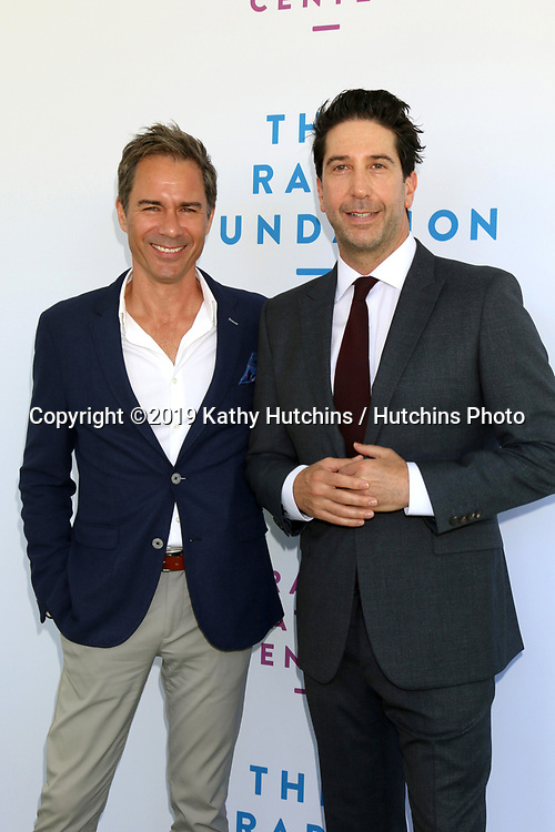 LOS ANGELES - OCT 6:  Eric McCormack, David Schwimmer at  The Rape Foundation's Annual Brunch at the Private Estate on October 6, 2019 in Beverly Hills, CA