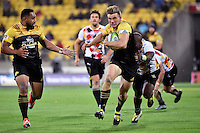 Hurricanes' Jason Woodwad in action during the Super Rugby - Hurricanes v Southern Kings at Westpac Stadium, Wellington, New Zealand on Friday 25 March 2016.<br /> Photo by Masanori Udagawa. <br /> www.photowellington.photoshelter.com.