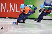 SHORT TRACK: DORDRECHT: Sportboulevard, 14-02-2016, ISU World Cup Short Track Final 2015/2016, Mark Prinsen (#110), ©photo Martin de Jong