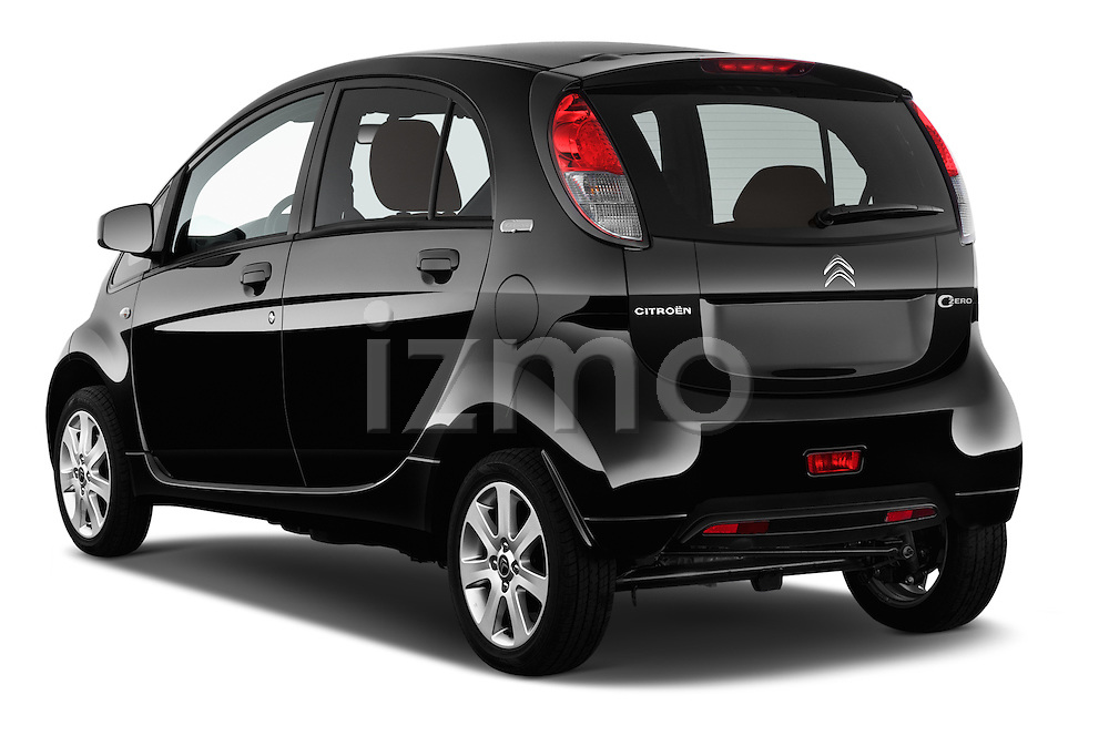 Car pictures of rear three quarter view of 2016 Citroen C-Zero Confort 5 Door Micro Car Angular Rear