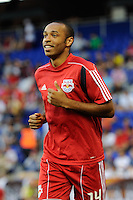 Thierry Henry (14) of the New York Red Bulls during pre-game warm ups. Tottenham Hotspur F. C. defeated the New York Red Bulls 2-1 during a Barclays New York Challenge match at Red Bull Arena in Harrison, NJ, on July 22, 2010.