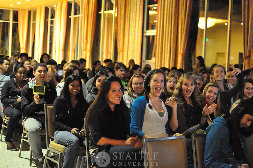 """10272011- MTV's """"The Buried Life"""" visit to campus. program, Q and A and autographs."""