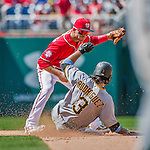 21 June 2015: Washington Nationals infielder Danny Espinosa in action against the Pittsburgh Pirates at Nationals Park in Washington, DC. The Nationals defeated the Pirates 9-2 to sweep their 3-game weekend series, and improve their record to 37-33. Mandatory Credit: Ed Wolfstein Photo *** RAW (NEF) Image File Available ***