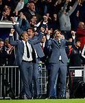 Nederland, Eindhoven, 15 september 2015<br /> Champions League<br /> Seizoen 2015-2016<br /> PSV-Manchester United<br /> Phillip Cocu, trainer-coach van PSV is uitzinnig van vreugde na afloop van de wedstrijd