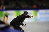 SCHAATSEN: HEERENVEEN: IJsstadion Thialf, 11-11-2012, KPN NK afstanden, Seizoen 2012-2013, Jillert Anema (trainer BAM Univé Schaatsteam), ©foto Martin de Jong