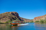 Exploring the Ord River by speedboat, The Kimberley, Australia
