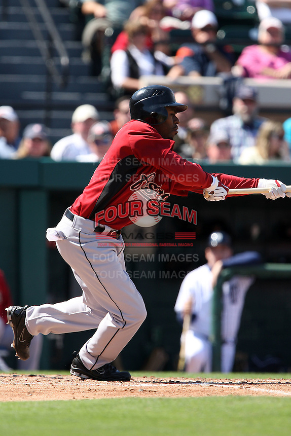 March 5, 2010:  Outfielder Michael Bourn of the Houston Astros during a Spring Training game at Joker Marchant Stadium in Lakeland, FL.  Photo By Mike Janes/Four Seam Images