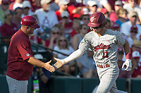 NWA Democrat-Gazette/BEN GOFF @NWABENGOFF<br /> LT Tolbert of South Carolina rounds third after hitting a home run in the 4th inning against Arkansas Saturday, June 9, 2018, during game one of the NCAA Super Regional at Baum Stadium in Fayetteville.