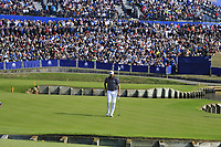Dustin Johnson Team USA on the 15th green during Friday's Fourball Matches at the 2018 Ryder Cup, Le Golf National, Iles-de-France, France. 28/09/2018.<br /> Picture Eoin Clarke / Golffile.ie<br /> <br /> All photo usage must carry mandatory copyright credit (© Golffile | Eoin Clarke)