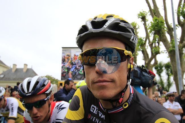 Sylvain Chavanel (FRA) Direct Energie at the start of Stage 4 of the 2016 Tour de France, running 237.5km from Saumur to Limoges, France. 5th July 2016.<br /> Picture: Eoin Clarke | Newsfile<br /> <br /> <br /> All photos usage must carry mandatory copyright credit (&copy; Newsfile | Eoin Clarke)