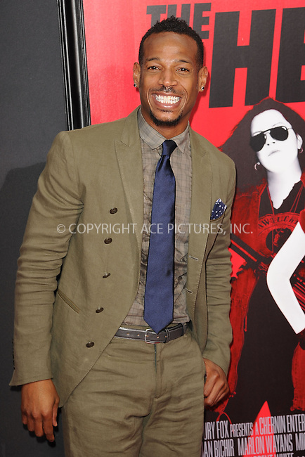 WWW.ACEPIXS.COM<br /> June 23, 2013...New York City <br /> <br /> Marlon Wayans attending 'The Heat' New York Premiere at the Ziegfeld Theatre on June 23, 2013 in New York City.<br /> <br /> Please byline: Kristin Callahan... ACE<br /> Ace Pictures, Inc: ..tel: (212) 243 8787 or (646) 769 0430..e-mail: info@acepixs.com..web: http://www.acepixs.com