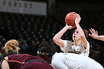 25 February 2016: Wake Forest's Elisa Penna. The Wake Forest University Demon Deacons hosted the Virginia Tech Hokies at Lawrence Joel Veterans Memorial Coliseum in Winston-Salem, North Carolina in a 2015-16 NCAA Division I Women's Basketball game. Virginia Tech won the game 54-48.