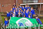 Kerry footballer Colm Cooper with the Green Flag which was awarded to CBS National School, Clounalour, Tralee.