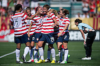 Shannon Boxx, Carli Lloyd, Abby Wambach, Alex Morgan, Kelley O'Hara, Rachel Buehler.  The USWNT defeated Costa Rica, 8-0, during a friendly match at Sahlen's Stadium in Rochester, NY.