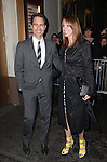 Eric McCormack & wife Janet.exiting the Stager Door after  the Broadway Opening Night Performance of 'Gore Vidal's The Best Man' at the Gerald Schoenfeld Theatre in New York City on 4/1/2012