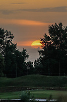 A sunset after the second round during the Shot Clock Masters, Diamond Country Club, Atzenbrugg, Vienna, Austria. 08/06/2018<br /> Picture: Golffile | Phil Inglis<br /> <br /> All photo usage must carry mandatory copyright credit (&copy; Golffile | Phil Inglis)