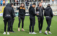 Blackpool's Antony Evans inspecting the pitch before the match<br /> <br /> Photographer Andrew Kearns/CameraSport<br /> <br /> The EFL Sky Bet League Two - Bristol Rovers v Blackpool - Saturday 2nd March 2019 - Memorial Stadium - Bristol<br /> <br /> World Copyright © 2019 CameraSport. All rights reserved. 43 Linden Ave. Countesthorpe. Leicester. England. LE8 5PG - Tel: +44 (0) 116 277 4147 - admin@camerasport.com - www.camerasport.com