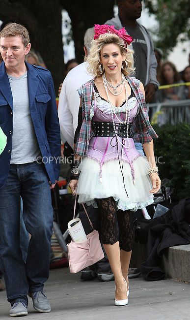 WWW.ACEPIXS.COM . . . . .  ....September 9 2009, New York City....Actress Sarah Jessica Parker on the set of the new 'Sex and the City' movie on September 9 2009 in New York City....Please byline: NANCY RIVERA- ACE PICTURES.... *** ***..Ace Pictures, Inc:  ..tel: (212) 243 8787 or (646) 769 0430..e-mail: info@acepixs.com..web: http://www.acepixs.com