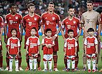 Luiz Gustavo, Thomas Muller, Mario Mandzukic, Diego Contento and Manuel Neuer of Bayern Munich line-up before a friendly match against VfL Wolfsburg as part of the Audi Football Summit 2012 on July 26, 2012 at the Guangdong Olympic Sports Center in Guangzhou, China. Photo by Victor Fraile / The Power of Sport Images