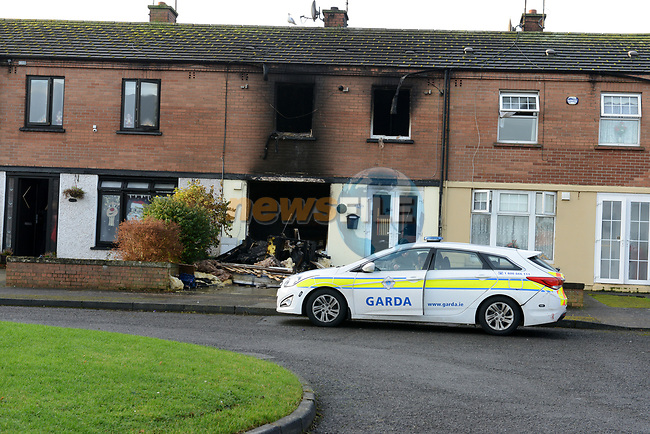 The Scene of the House fire in Moneymore in Drogheda..<br /> Picture Andy Spearman | Newsfile