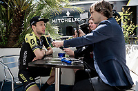 Simon Yates (GBR/Mitchelton-Scott) interviewed on the 1st restday <br /> <br /> restday 1 (20 may) of the 102nd Giro d'Italia 2019<br /> <br /> ©kramon