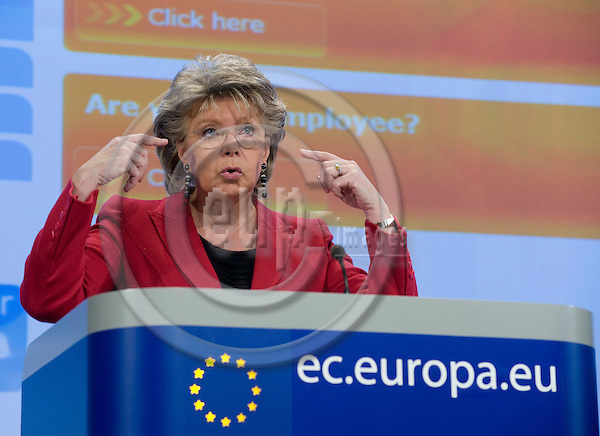 Brussels-Belgium - March 05, 2010 -- Viviane REDING, Vice-President of the European Commission, from Luxembourg, and in charge of Justice, Fundamental Rights and Citizenship, during a press conference in the HQ of the EC -- Photo: Horst Wagner / eup-images